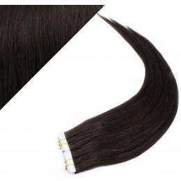 40cm Tape vlasy / Tape IN - přírodní černá