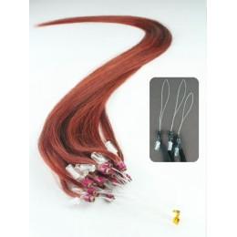 40cm micro ring / easy ring vlasy - měděná