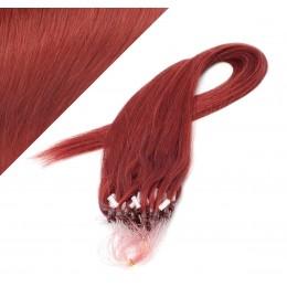 50cm micro ring / easy ring vlasy - měděná
