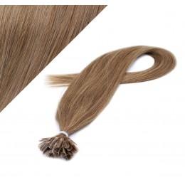 40cm vlasy na keratin - světle hnědá