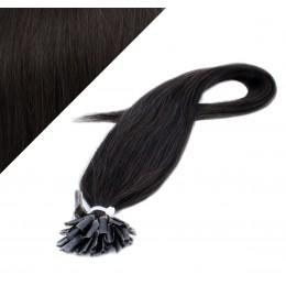 40cm vlasy na keratin - přírodní černá