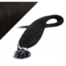 50cm vlasy na keratin - přírodní černá