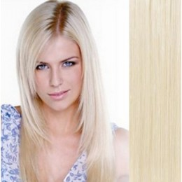 "15"" (40cm) Clip in human REMY hair - platinum blonde"