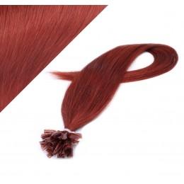 60cm vlasy na keratin - měděná