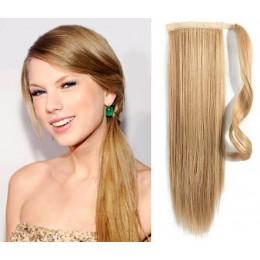 60cm clip in culík / cop rovný - přírodní / světlejší blond