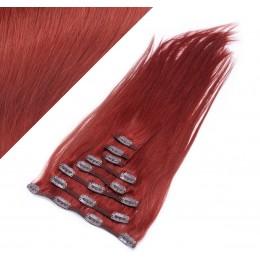 50cm clip in lidské REMY vlasy evropského typu - měděná