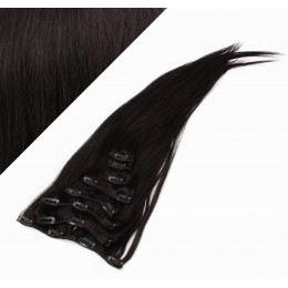 70cm clip in lidské REMY vlasy evropského typu - přírodní černá