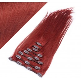 70cm clip in lidské REMY vlasy evropského typu - měděná