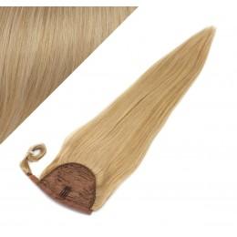 60 cm culík / cop z lidských vlasů rovný - přírodní blond