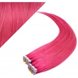 40cm Tape vlasy / Tape IN - růžová