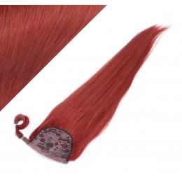 60 cm culík / cop z lidských vlasů rovný - měděná
