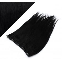Clip vlasový pás remy 43cm rovný – černá