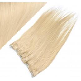 Clip vlasový pás remy 43cm rovný – nejsvětlejší blond