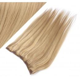 Clip vlasový pás remy 43cm rovný – přírodní / světlejší blond
