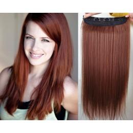Clip vlasový pás remy 43cm rovný – měděná