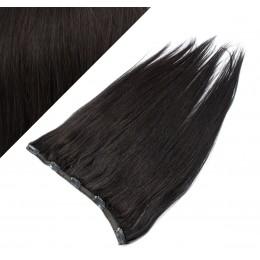 Clip vlasový pás remy 53cm rovný – přírodní černá