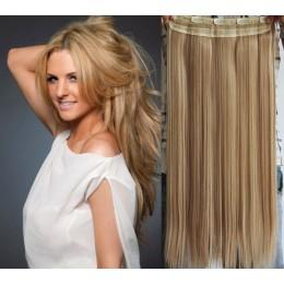 Clip vlasový pás remy 53cm rovný – přírodní / světlejší blond