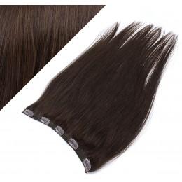 Clip vlasový pás remy 63cm rovný – tmavě hnědá