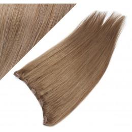 Clip vlasový pás remy 63cm rovný – světle hnědá