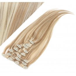 50cm clip in lidské REMY vlasy evropského typu - světlý melír