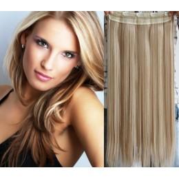 Clip vlasový pás remy 63cm rovný – platina / světle hnědá