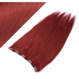 Clip vlasový pás remy 63cm rovný – měděná