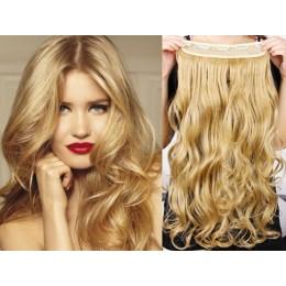 Clip vlasový pás remy 43cm vlnitý – přírodní blond