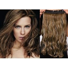 Clip vlasový pás remy 43cm vlnitý – tmavý melír