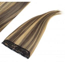 Clip rychlopás japonský kanekalon 63cm rovný – tmavý melír