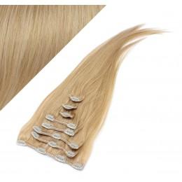 60cm clip in lidské REMY vlasy evropského typu - přírodní blond