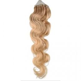 50cm micro ring / easy ring vlasy vlnité - přírodní blond