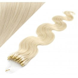 50cm micro ring / easy ring vlasy vlnité - platina