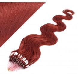 50cm micro ring / easy ring vlasy vlnité - měděná
