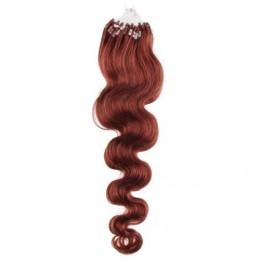 60cm micro ring / easy ring vlasy vlnité - měděná