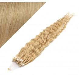 60cm micro ring / easy ring vlasy kudrnaté - přírodní blond