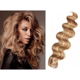 50cm Tape vlasy / Tape IN vlnité - přírodní / světlejší blond
