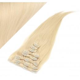 70cm clip in lidské REMY vlasy evropského typu - nejsvětlejší blond
