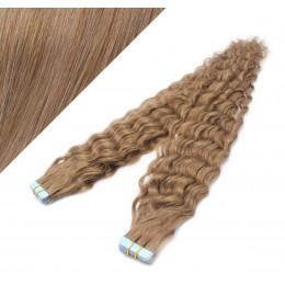 60cm Tape vlasy / Tape IN kudrnaté - světle hnědé
