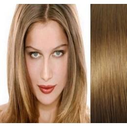 40cm clip in REMY vlasy evropského typu 100g - světle hnědá