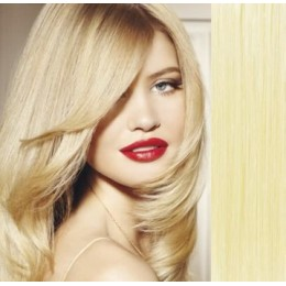 40cm clip in REMY vlasy evropského typu 100g - nejsvětlejší blond