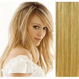 "28"" (70cm) Clip in human REMY hair - light blonde/natural blonde"