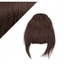 Clip in ofina 100% lidské vlasy - tmavě hnědá