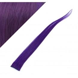 50cm clip in pramínek, 6ks - fialová