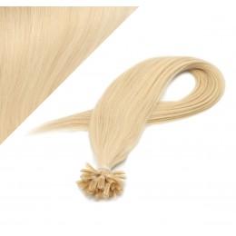 40cm vlasy na keratin - nejsvětlejší blond